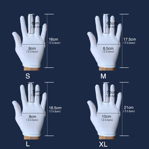 Image 4 - 1 pair White Cotton Gloves Full Finger Men Women Waiters/drivers/Jewelry/Workers Mittens Sweat Absorption Gloves Hands Protector