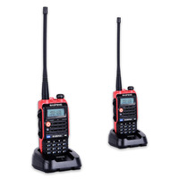 2PCS Baofeng BF UVB2 Plus 8W High Power 7.4V 4800mAh Li ion Battery LED Two Way Radio Walkie Talkie Dual Band UVB2 with Earphone