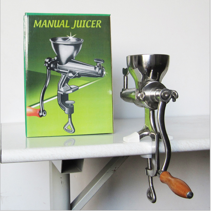 Hand Stainless Steel Wheat Grass Manual Juicer Auger Slow Squeezer Fruits Vegetables Orange Juice Extractor Machine wheat grass juicer stainless steel manual home use vegetable orange juicing machine juice extractor