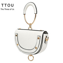 TTOU Mini Women Wristlets Bag Fashion Lady Handbags Designer Messenger Bags Solid Shoulder for Girls Bolsas