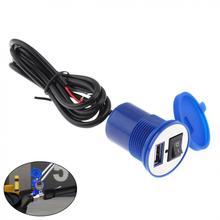 12V 2.1A водонепроницаемый USB сопло универсальное USB Автомобильное зарядное устройство для мобильного телефона зарядное устройство для кросс-велоспорта скутер
