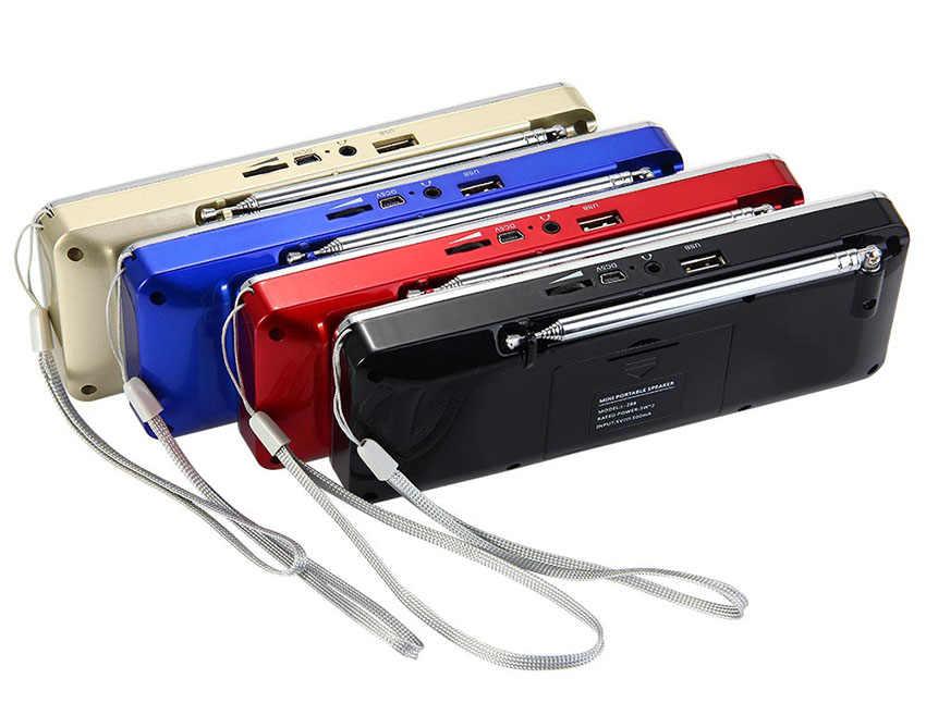 デジタルラジオ AM/FM スピーカー 3.5 ミリメートル Aux ライン入力 MP3 プレーヤー TF/SD カード Led ディスプレイ画面 L-288 ミニポータブルスピーカー電話