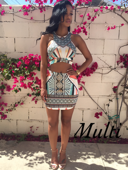 2-Piece Print Bodycon Dress 3