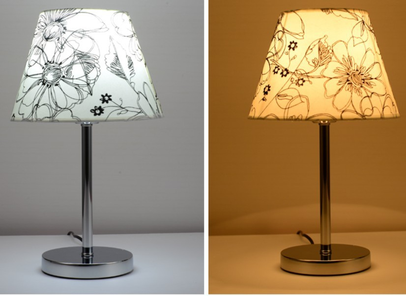 Hot selling Modern Brief Stainless Steel Fabric Decoration Lamp ...