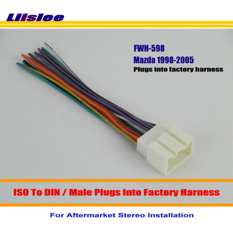 2003 / male iso radio wire cable wire / car stereo adapter connector  plugs into factory harness from reliable radio wires suppliers on acp bruce  store