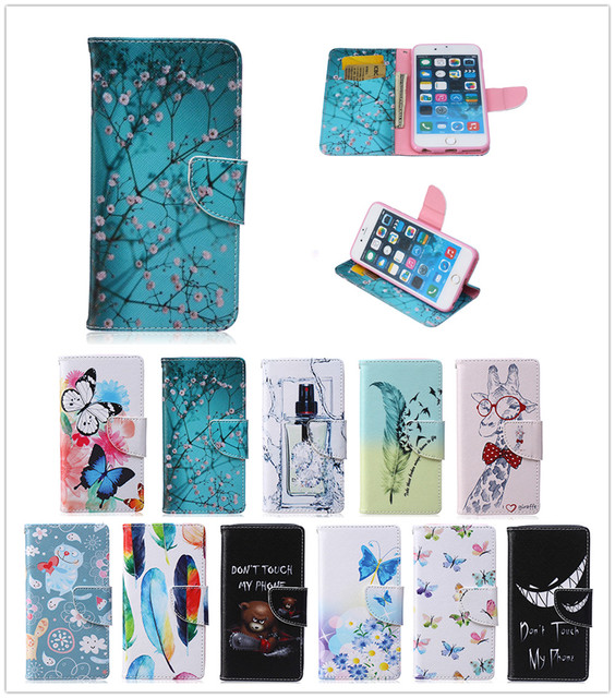 huge discount 6a86c d5490 Aliexpress.com : Buy For Apple iPhone 6S 6 Plus 6S+ Case Duplex Luxury  Painting TPU Back Box Stand Wallet Slot Magnetic Flip Phone Leather Case  from ...