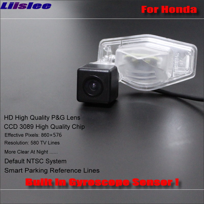 Liislee Intelligent Parking Tracks Rear Camera For Honda HRV HR V 2013 2016 Backup Reverse NTSC RCA AUX HD SONY 580 TV Lines in Vehicle Camera from Automobiles Motorcycles