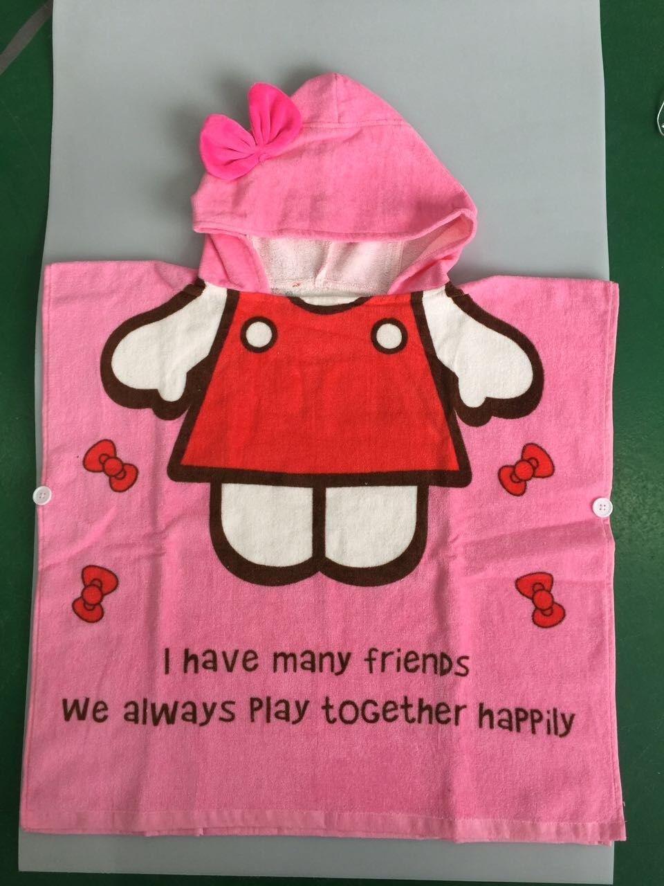 Банные халаты для маленьких девочек с героями мультфильма «Алиса»; 9 стилей; банный халат с изображением животных; Детские банные костюмы; сезон весна-осень; ночная рубашка с капюшоном с изображением животных - Цвет: Pink KT
