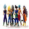 Anime 6 unids/set dragon ball Z pvc figuras de acción juguetes 15 CM Super Saiyan juguete de colección modelo de juguete para regalo de cumpleaños juguetes