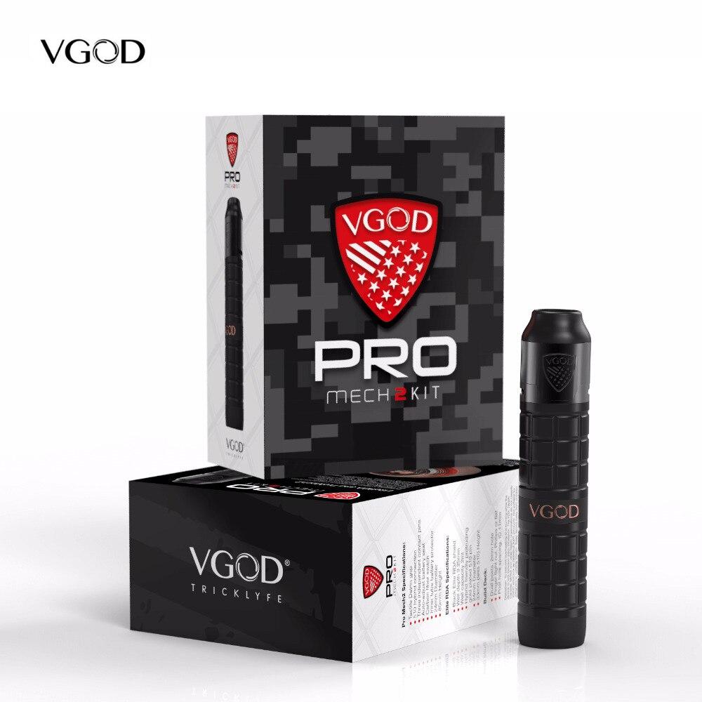 D'origine VGOD Pro Mech 2 Kit Série Mod avec ELITE RDA Réservoir Atomiseur 2 ml capacité 24mm Diamètre Vaporisateur VS Vgod Pro Mod