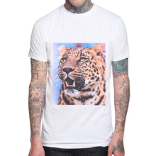 T Shirt Men 2019 New Brand Short Sleeve Male T-Shirts Mens Animal Leopard 3D Printing Casual Tshirt Man Tee Tops 3XL