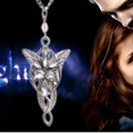 2017 Movie Jewelry Lord Of The Rings Hobbit Elves Princess Aragorn Arwen Evenstar Pendant Twilight Star Pendant Sweater Chain
