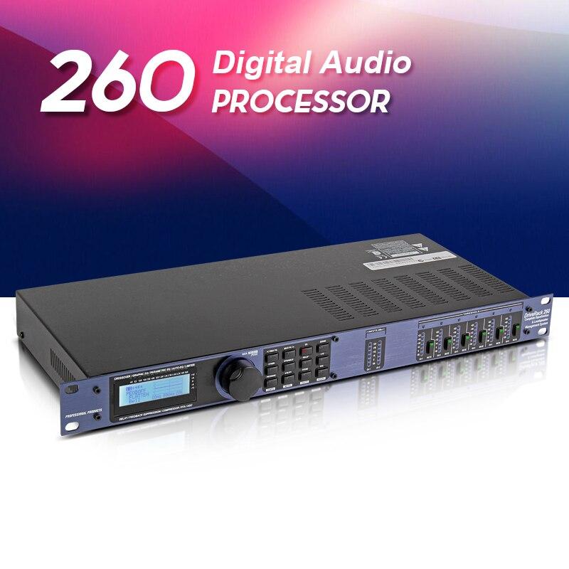 Top quality!! 260 Digital Audio Processor Graphic Equalizer Signal Processor Stage Performances KTV Sound Equipment 110-220V wavelets processor