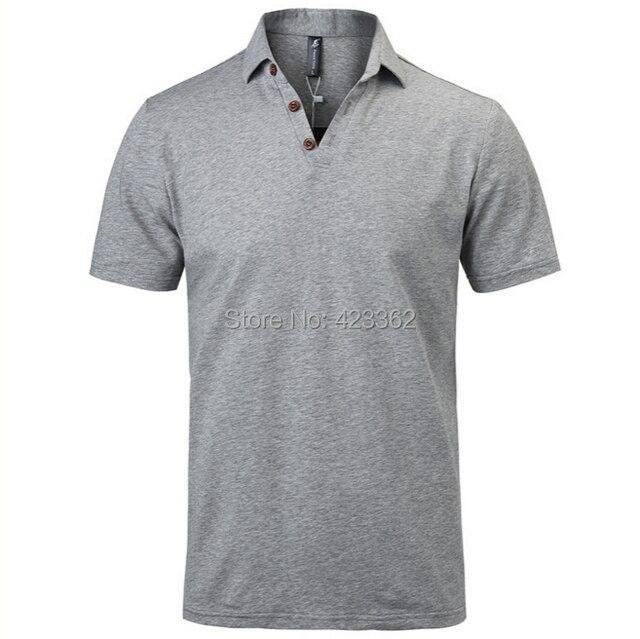 Мужские polo рубашка воздухопроницаемый и быстрая сушка лето верхний одежда хлопок короткий рукав отложным вниз воротник
