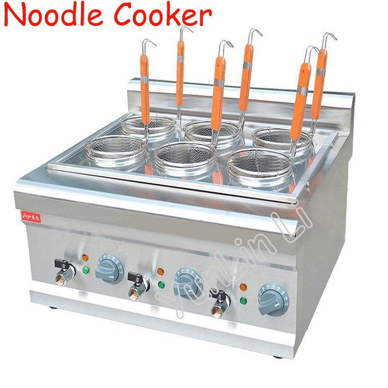 Noodle Cooker Commercial Electric Counter Top Noodle Cooking Machine Stainless Steel With 6 Mesh Sieve Noodle Cooker FY-6M 220v 600w 1 2l portable multi cooker mini electric hot pot stainless steel inner electric cooker with steam lattice for students