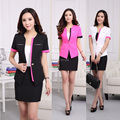 Plus Size 4XL 2015 Blazer Feminino Spring Summer Professional Business Office Work Wear Suits Blazer And Skirt For Ladies