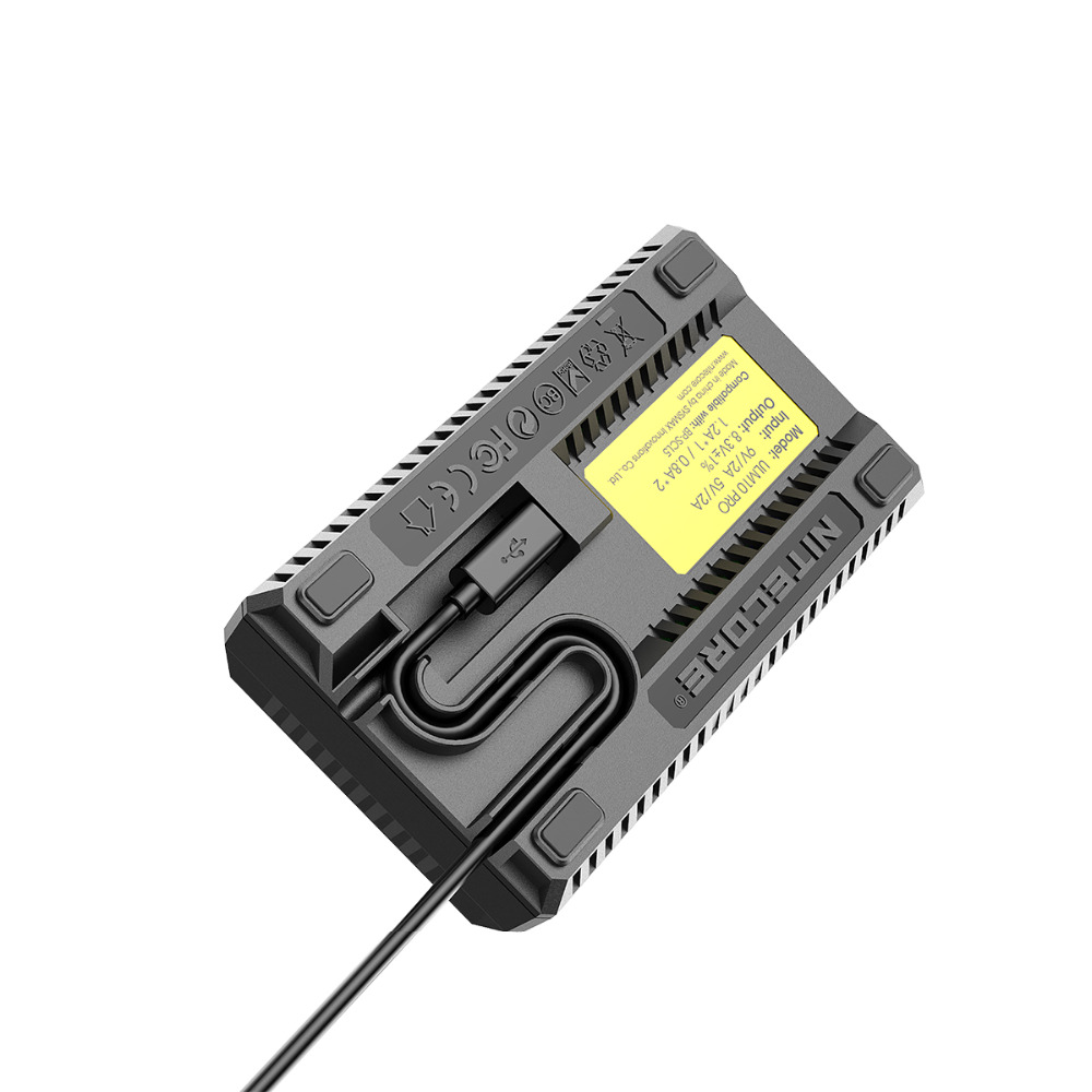 Original New Nitecore ULM10 Pro Digital Dual Slot Travel Camera Charger For Leica BP-SCL5 Batteries, Compatible With M10
