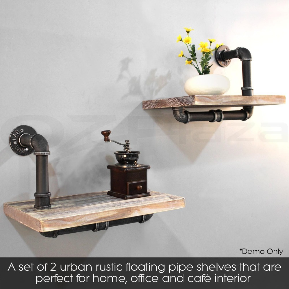 Vintage Industrial Bathroom Pipe Shelf Wall Mounted Floating Shelf With Pine Wood Living Room Book Frame Shelving In Furniture Frames From Furniture
