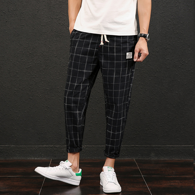 Japan Style Retro Pants Men Summer Brand 2018 Ankle Length Casual