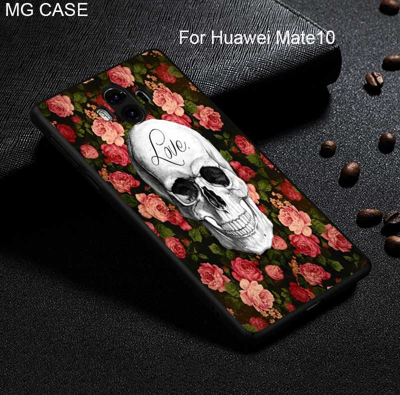 For Huawei Mate9 Mate10Pro P20 Funny Skull Head Phone Case For Huawei Nova2 Plus P20 P20Pro P20Lite Popular Skull Phone Case Bag