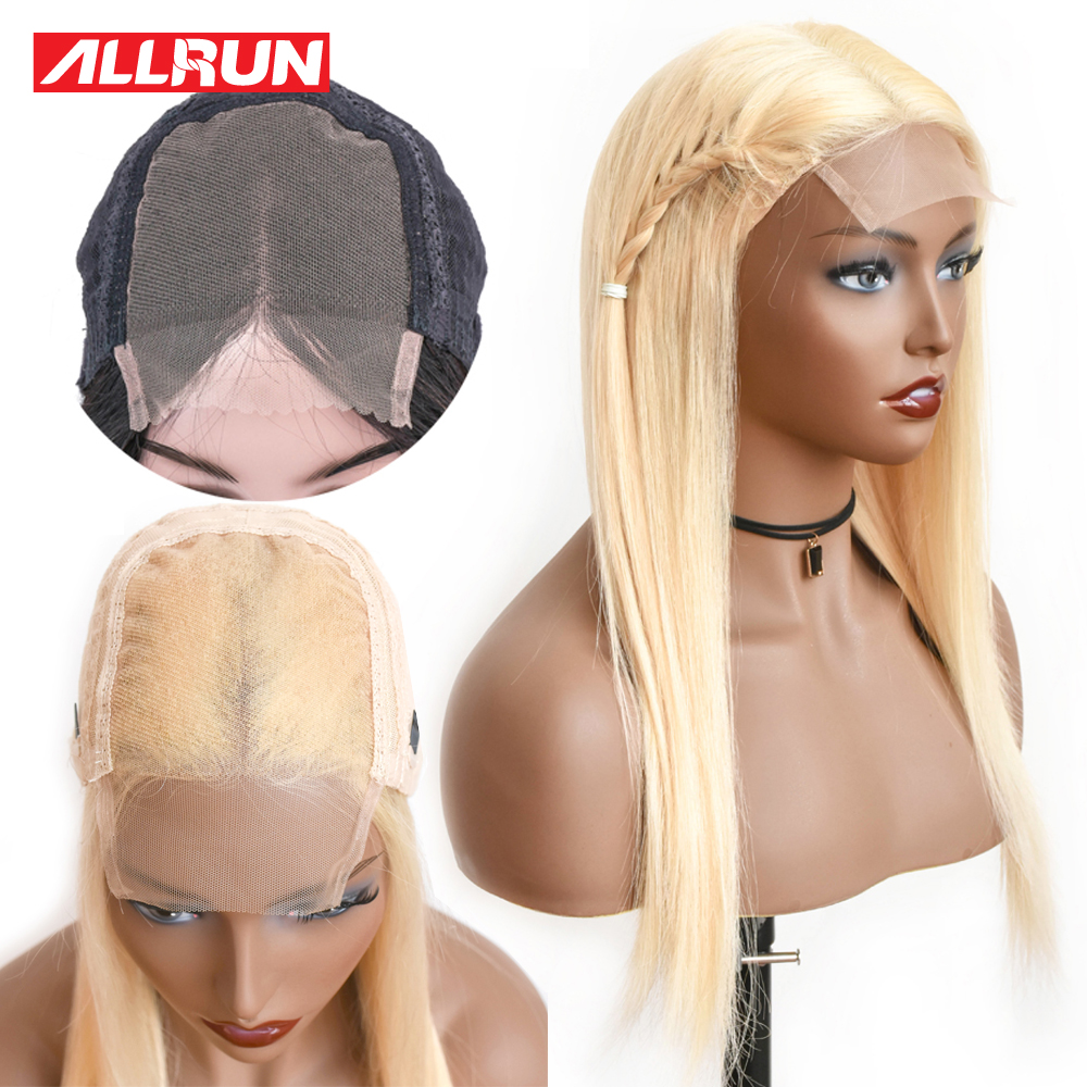 4 4 Lace Closure Wigs 613 Blonde Lace Front Human Hair Wig Malaysia Straight Hair Remy