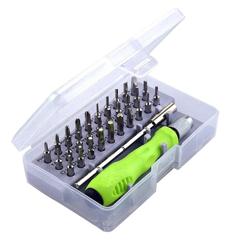 Precision Screwdriver Set of 32 in 1 Mini Magnetic Screwdriver Set Phone Camera Maintenance Tool LB88 цена