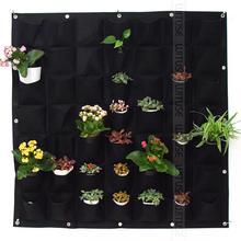 36 64 72 bolsillo exterior Interior Vertical de jardinería colgante de pared jardín 4 bolsillos de plantación bolsas de cultivo de pared