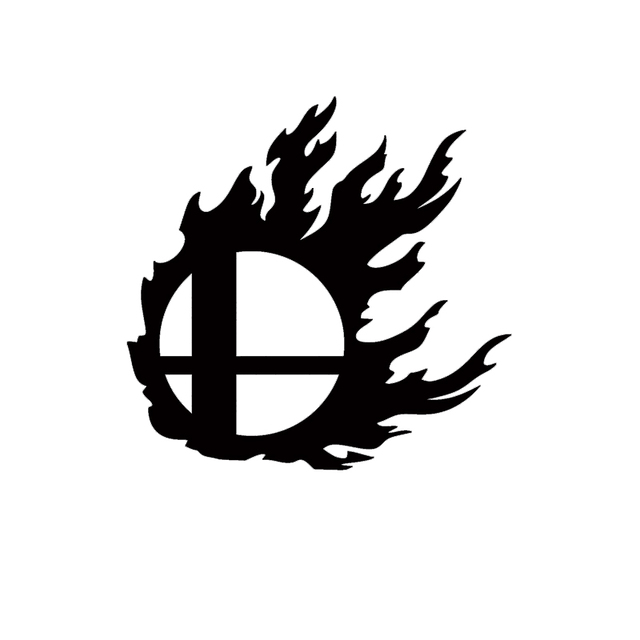 Super Smash Flame Logo Vinyl Decal Laptop Car Styling Car Sticker-in - flame logo