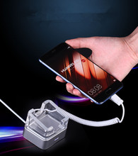 Pure color acrylic remote control mobile phone tablet retail anti lost alarm charging security display base