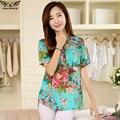 2016 высокое качество Летом стиль Кимоно блузки топ Плюс размер XS-5XL хлопка С Коротким рукавом Повседневная Женщины футболки blusas топы