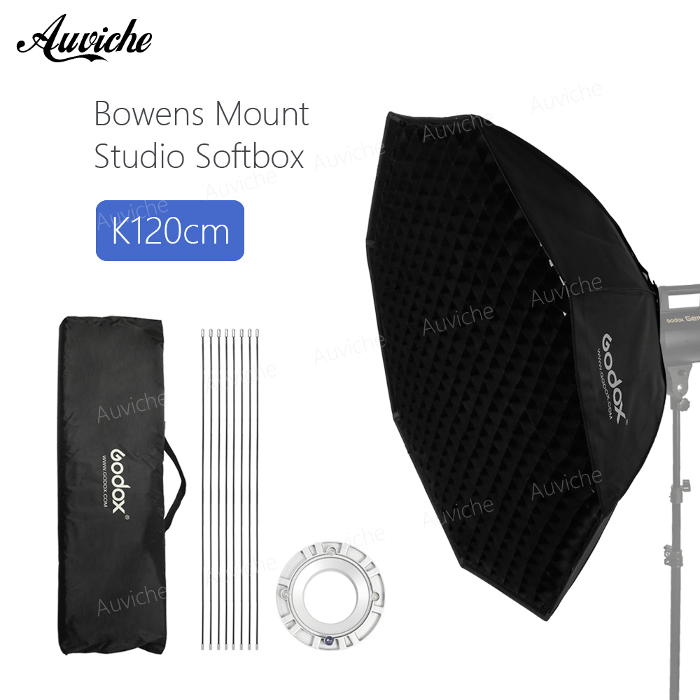 Godox 120cm 47 Honeycomb Grid Octagon Softbox Reflector Softbox with Bowens Mount for Studio Strobe Flash Light godox 120cm octagon flash speedlite studio photo light soft box w grid honeycomb umbrella softbox bowens mount