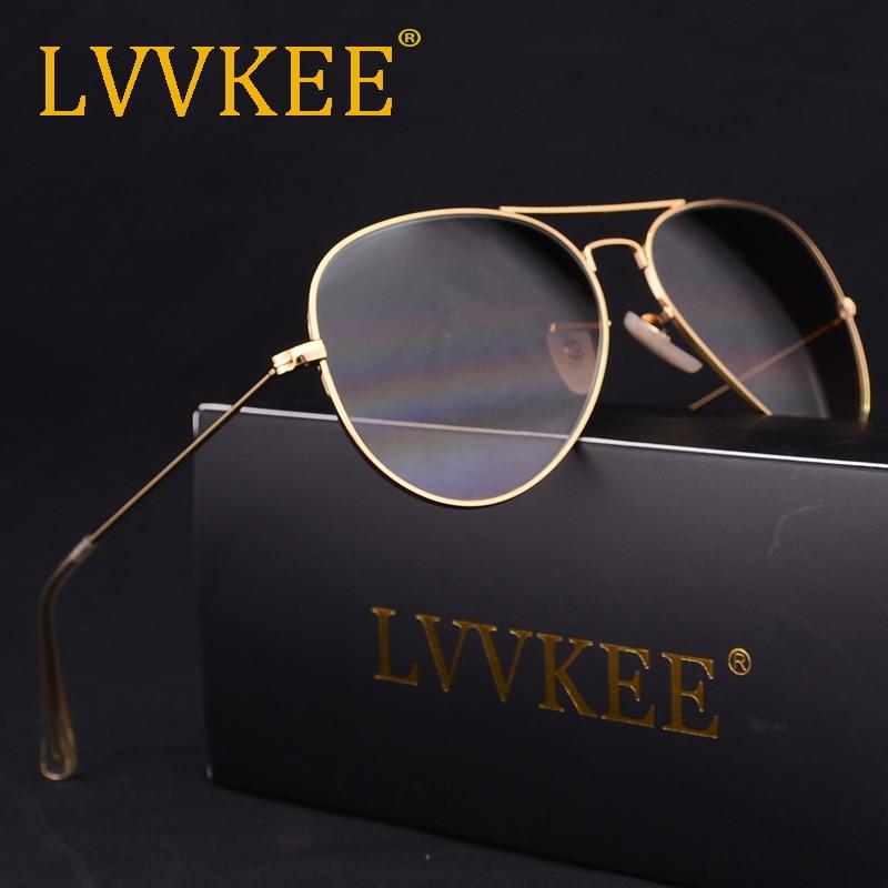 LVVKEE merek Lensa Kaca pilot Kacamata Pria Wanita 58mm Gradien G15 - Aksesori pakaian - Foto 2