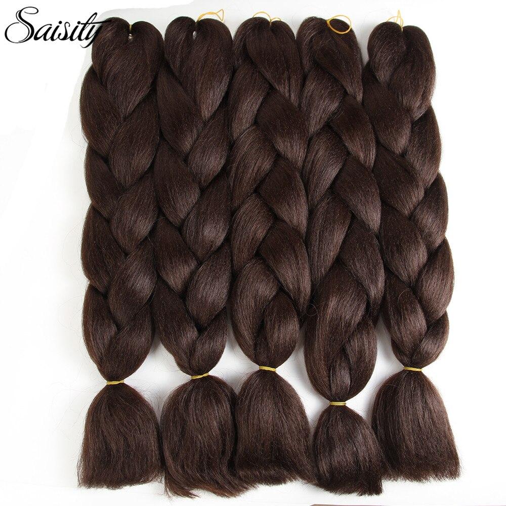 Enthusiastic Saisity 24inch Crochet Braids Hair Extension Kanekalon Jumbo Braids Ombre Braiding Hair Box Braids Crochet Hair 2/3 Tones Brown Hair Extensions & Wigs