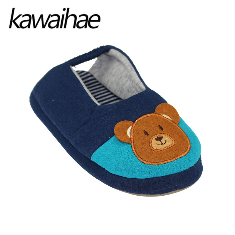 Cute-Bear-Children-Shoes-Girls-Boys-Slipers-Home-Indoor-House-Kids-Flat-Cotton-Shoes-Kawaihae-Brand-3