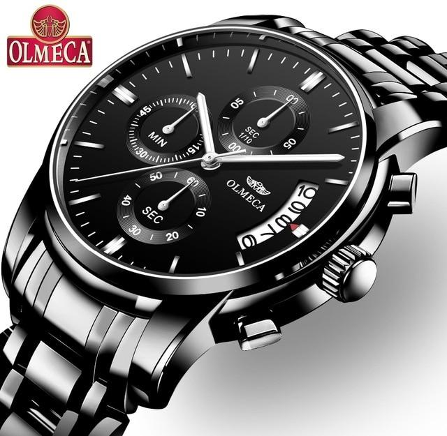OLMECA Lovers Watches Luxury Men Watches Waterproof Unisex Import Automatic Wris