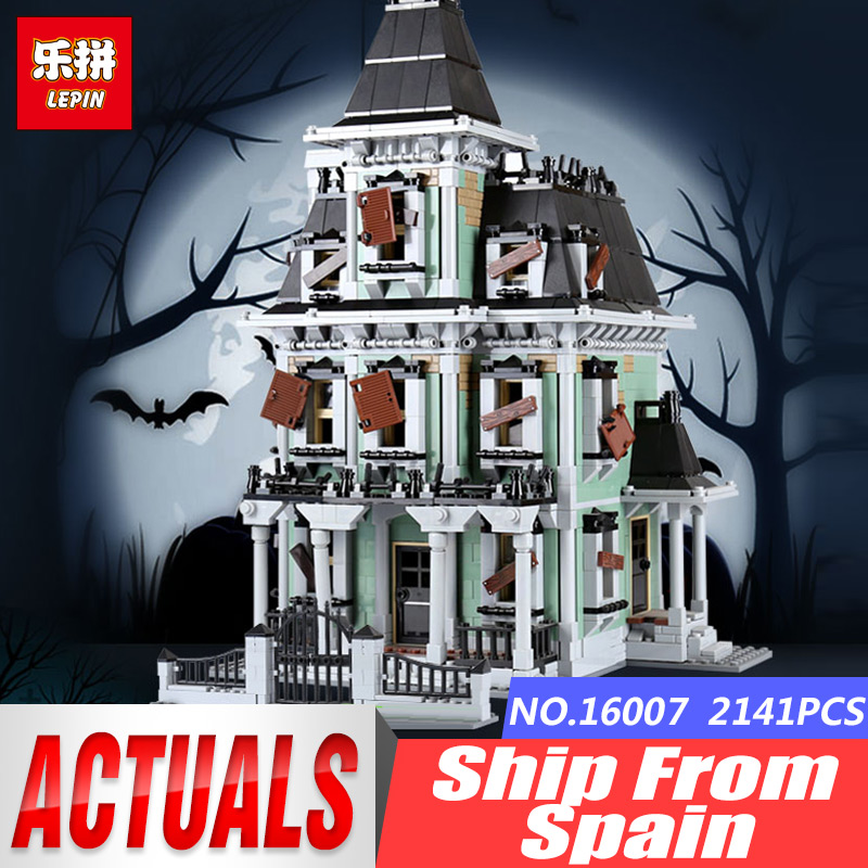 DHL LEPIN 16007 2141Pcs Monster fighter The Haunted House Model Set Building Kits Model Compatible With legoinglys 10228 Gifts 2141pcs monster fighters haunted house vampyre castle 16007 model building blocks children gifts sets movie compatible with lego
