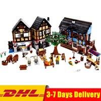 Лепин 16011 1601 шт. замок серии средневековый рынок деревня модель замка строительный комплект блок кирпичи Moc Legoings
