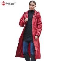 Rainfreem Impermeable Raincoat Women/Men Waterproof Trench Coat Poncho Double layer Rain Coat Women Rainwear Rain Gear Poncho