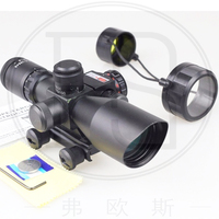Tactical Sight 2 5 10x40 Double Red Green Illuminated Mil Dot Sight With Red Laser Sight