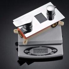 Cyfrowy Wyświetlacz Bateria Natryskowa. Powered Wyświetlacz Cyfrowy Bateria Prysznicowa Zawór wody, Nie Ma Potrzeby Baterii System Z Hydromasażem Mixer Kran Prysznic