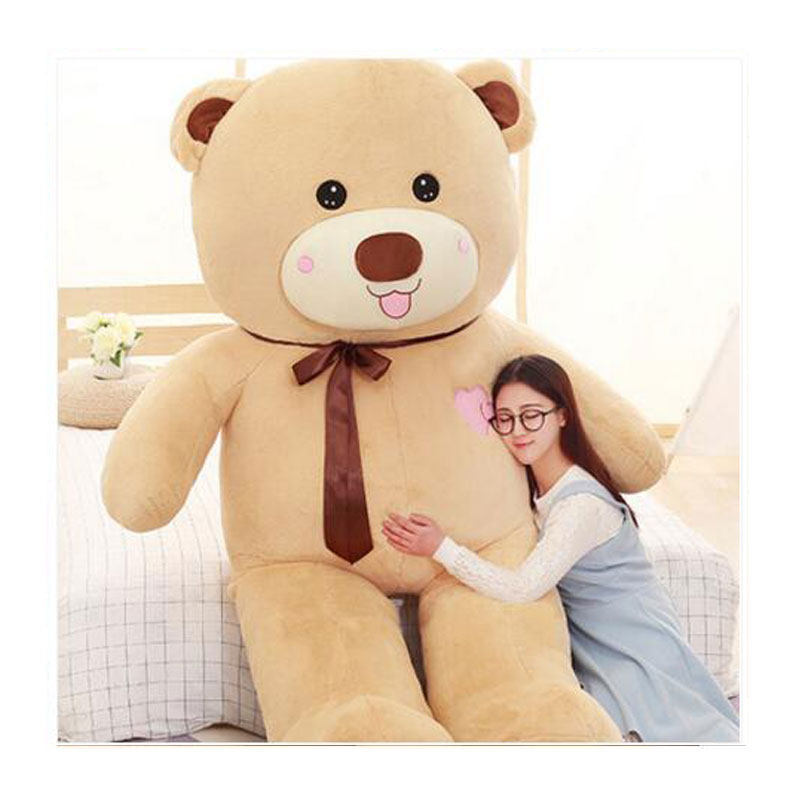 Kawaii Bear Oversize 200CM Creative High Quality Panda Bear Doll Teddy Bear Plush Baby Doll Toys For Kids Birthday Gift Toys kawaii 140cm fashion stuffed plush doll giant teddy bear tie bear plush teddy doll soft gift for kids birthday toys brinquedos