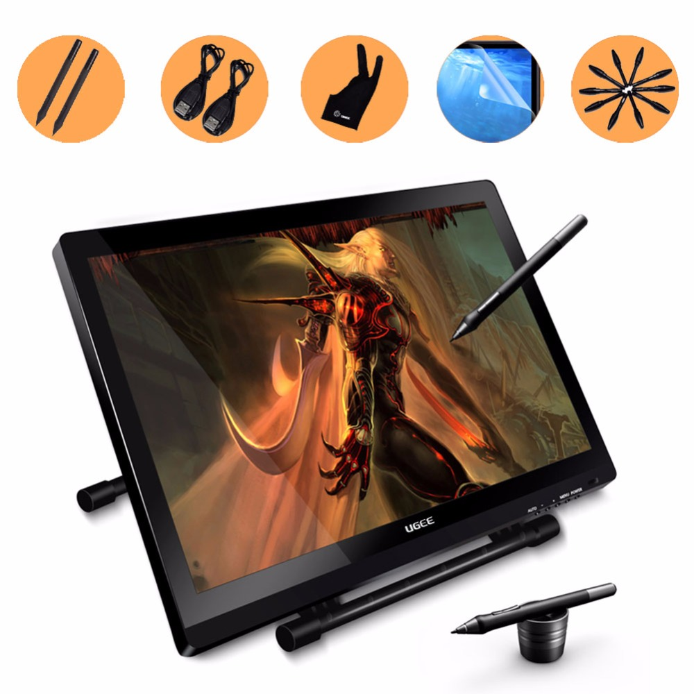 UG2150 21 5 Inch Graphic Drawing Monitor Pen Display IPS LED Pannel With 2 Original Rechargeable