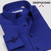 Fashion Men Business Shirt Square Collar Men Shirts Cotton Casual Shirt Slim Fit Oxford Camisa De Hombre Shirt DDX78508L