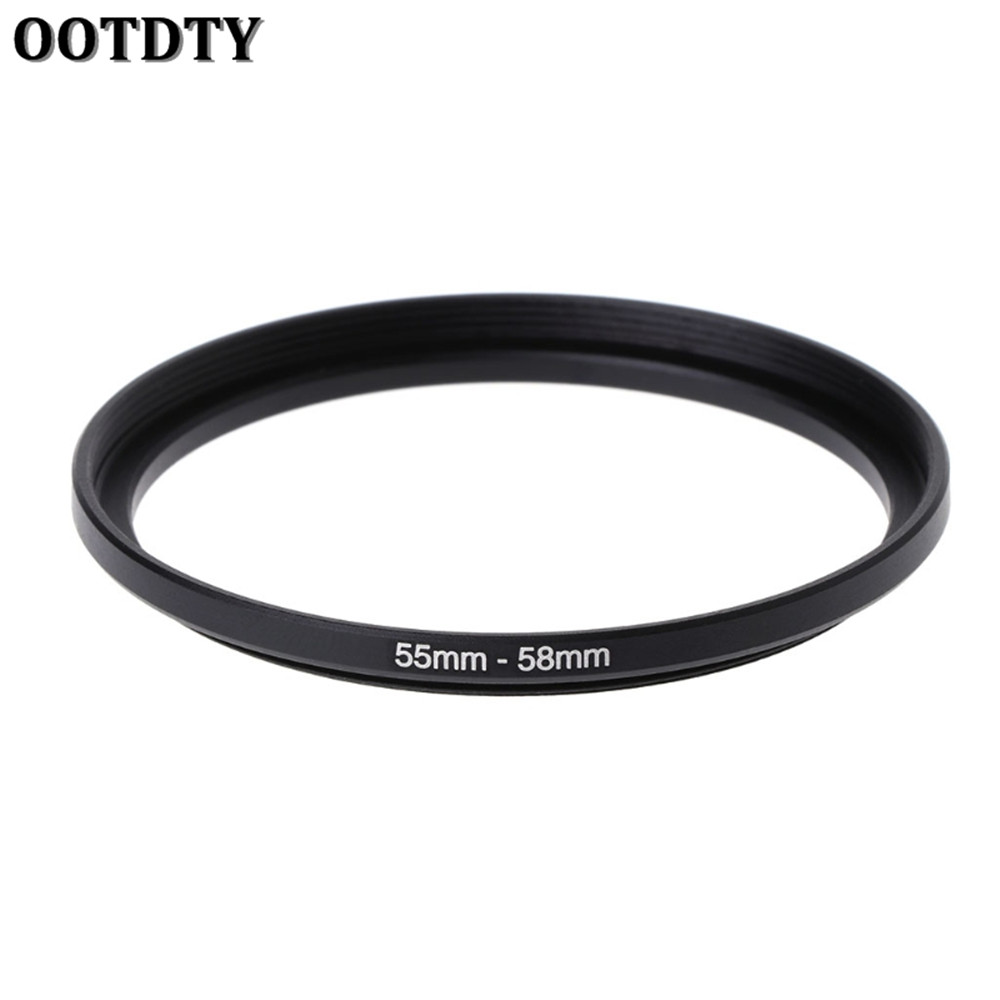 55mm to 58mm 55mm-58mm Stepping Step Up Filter Ring Adapter