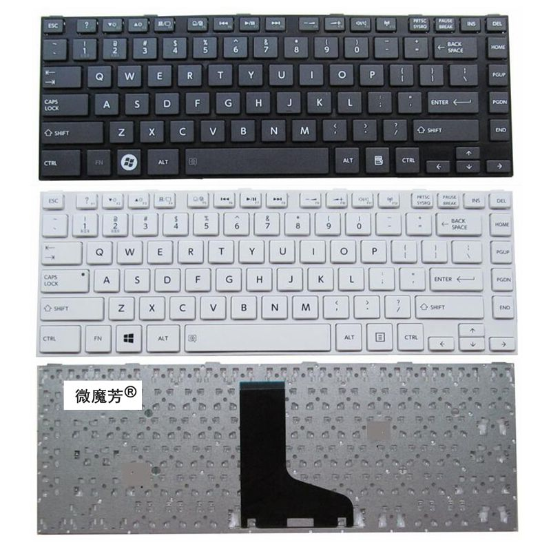 English US New Keyboard for <font><b>TOSHIBA</b></font> <font><b>L800</b></font> L805 L830 C800 C830 C805 C840D M800 M805 Replace laptop keyboard image