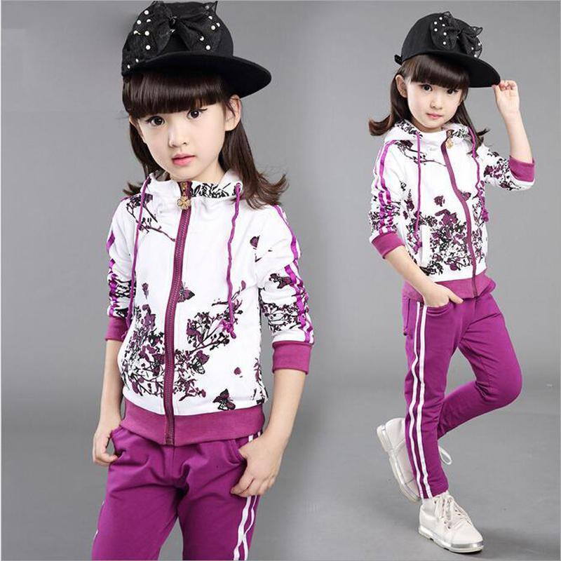 Baby Girls Clothes Jacket Kids Clothing Hoodies+Pants Girl Tracksuit Sport Suit платье для девочек baby girl clothes 2015 baby baby girls clothes