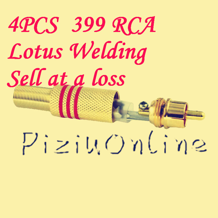 4PCS/LOT YT131 339 high-quality gold-plated RCA audio connectors lotus welding head RCA video plug AV head head free shipping 10pcs lot yt188 high quality 4mm gold plated copper banana plug the speaker plug the horn line audio cable connector welding