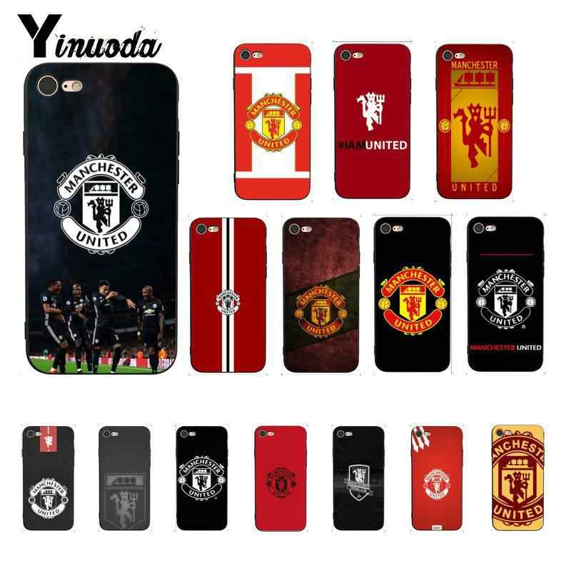 Yinuoda Manchester United FC DIY Painted Phone Case for iPhone 5 5Sx 6 7 7plus 8 8Plus X XS MAX XR 10 Case