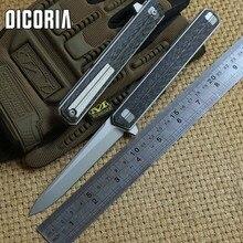 DICORIA Quartermaster Qwaiken Tatical Flipper folding knife Titanium handle M390 blade ball bearing outdoor Drills EDC tools