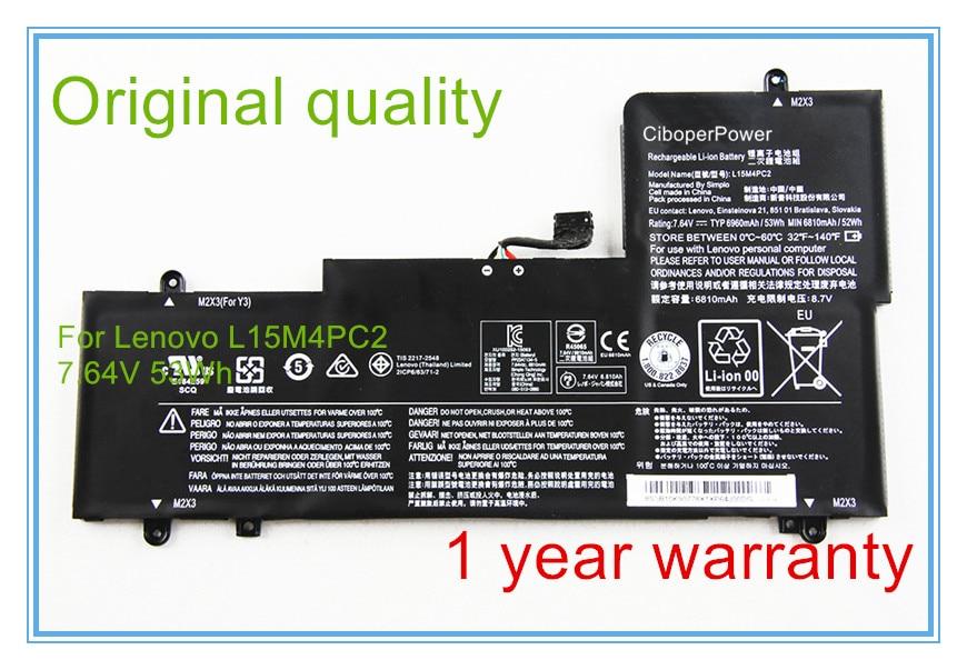 Original L15M4PC2 L15L4PC2 7.64V 53WH battery fit for 710-14ISKOriginal L15M4PC2 L15L4PC2 7.64V 53WH battery fit for 710-14ISK